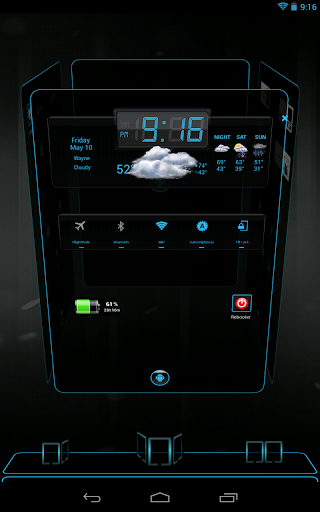 Next Launcher 3D ICS Blue HD