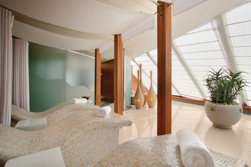 Oceania_OClass_Spa_Relaxation - You'll enjoy the calm, serene environment of the Canyon Ranch SpaClub on your Oceania cruise.