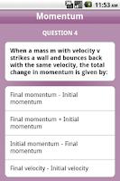 Screenshot of Physics A Level