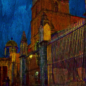 golden years by John Kolenberg - Digital Art Places ( church, san miguel, mexico, churches, photo art,  )