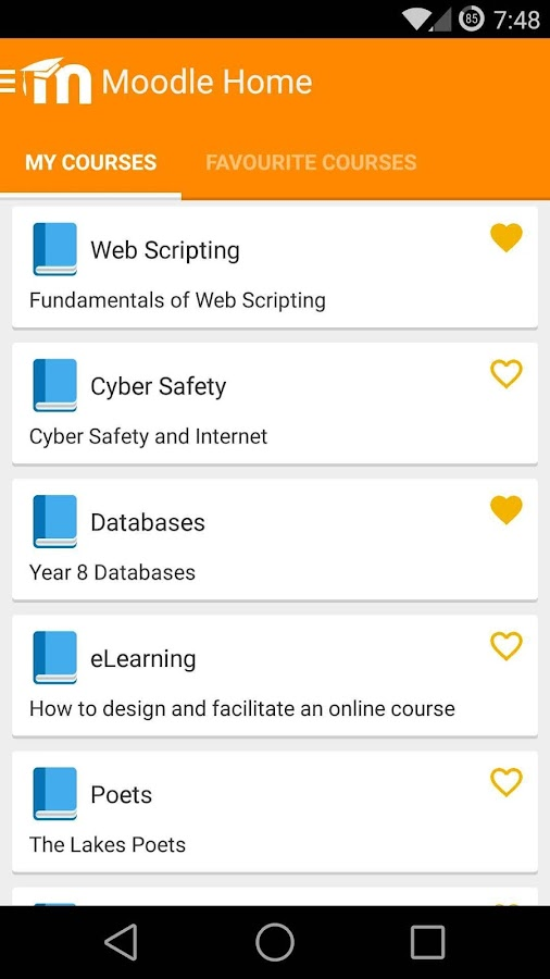 MDroid - Moodle mobile app - screenshot