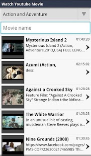 Search Movies on Youtube