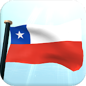 Chile Flag 3D Free Wallpaper