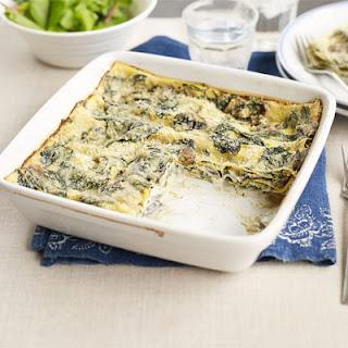 Quick Mushroom & Spinach Lasagne.