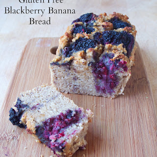 Gluten Free Blackberry Banana Bread.