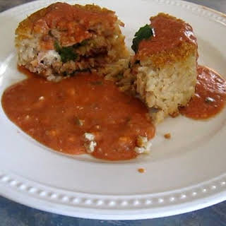 Stuffed Rice Timbale.