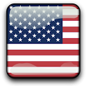 USA Flag Analog Clock Widget