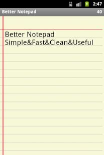 Better Notepad- screenshot thumbnail