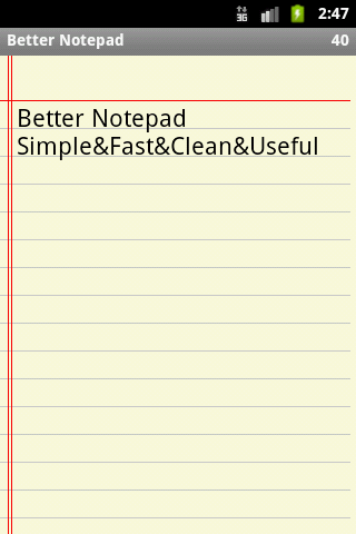 Better Notepad - screenshot