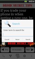 Screenshot of Droid Secret Tips