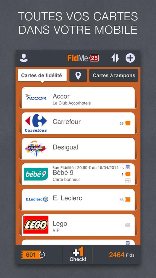 FidMe - Cartes de fidélité - screenshot