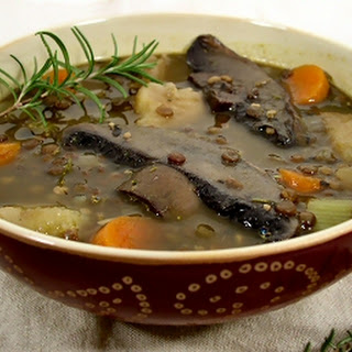 French Lentil and Portabella Stew.