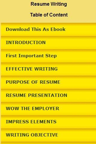 resume writing android apps on play