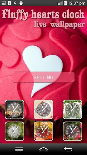 Fluffy Clock Hearts LWP