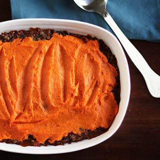 Lentil, Mushroom & Sweet Potato Shepherd's Pie.