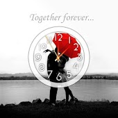 Romantic Theme Kiss Clock LWP
