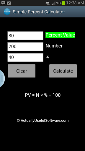 Percent Calculator for Smart