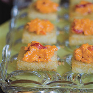 Grits Cakes with Pimiento Cheese.