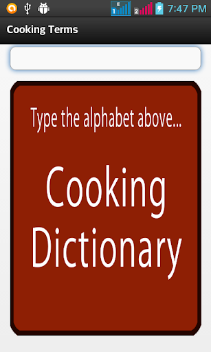 CookingDictionary