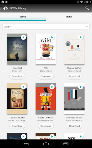 NOOK Audiobooks Screenshot