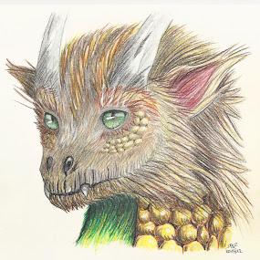 Lil Dragon by Michaela Silvia - Drawing All Drawing ( pencil, dragon, little, cute )