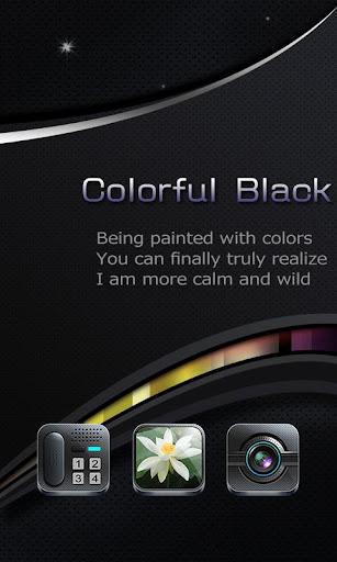 彩色的黑_Turbo EX桌面主题