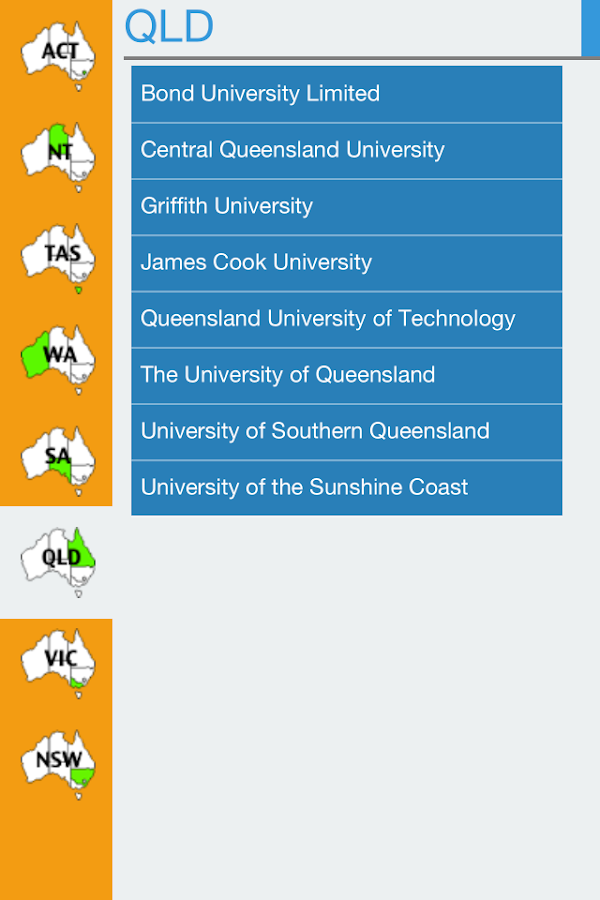 OZUniversities- screenshot