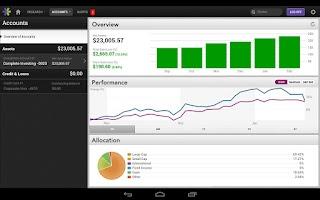 Screenshot of E*TRADE Mobile for Tablets