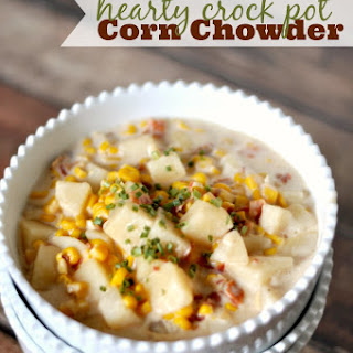Crock Pot Corn Chowder.
