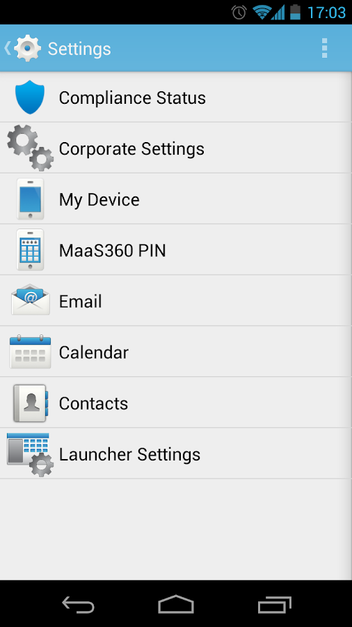 MaaS360 MDM for Android - screenshot