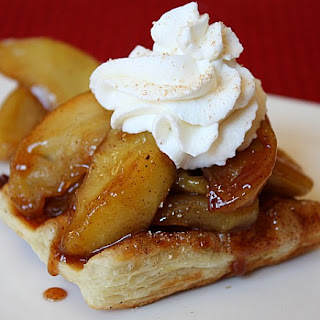 Caramelized Apple Waffle Pastries.