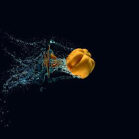 Yellow Pepper by Daniel Craig Johnson - Food & Drink Fruits & Vegetables ( splash, fresh, food, vegetables, pepper, light,  )