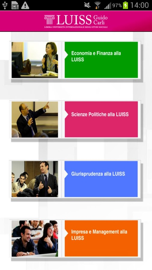 LUISS - screenshot