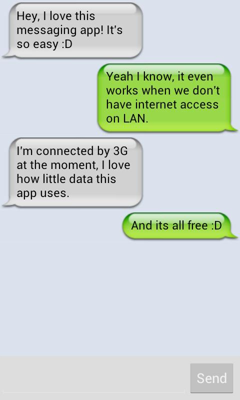 Peerchat Lan Messenger- screenshot