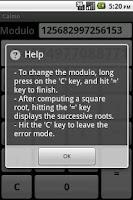 Screenshot of Modular calculator