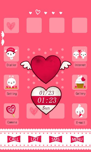 CUKI Theme Pink Heart