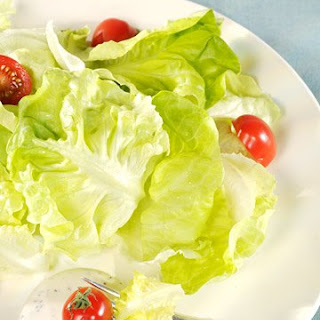 Boston Lettuce Salad with Buttermilk Ranch Dressing.