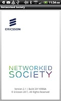 Screenshot of Ericsson Networked Society