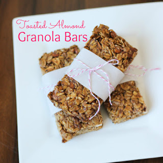 Toasted Almond Granola Bars