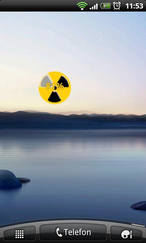 Nuclear Battery Widget - screenshot