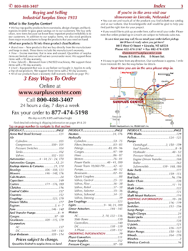 Surplus Center Catalog