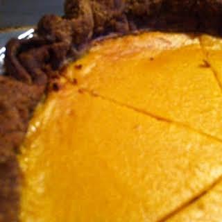 Butternut Squash Pie with Buckwheat Crust.