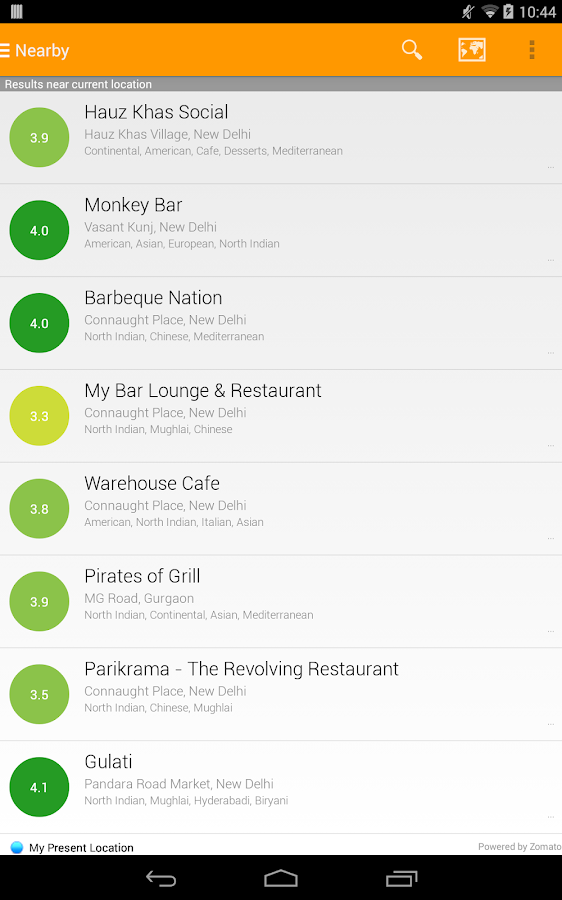 Eattr- India Restaurant Finder- screenshot