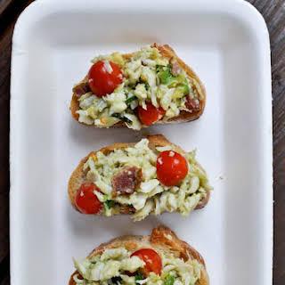 Crab Crostini Appetizer Recipes.