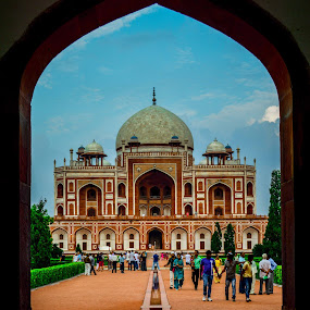 humayun tomb by Madly Baangali - Buildings & Architecture Statues & Monuments ( islam, india, architecture, mughal,  )