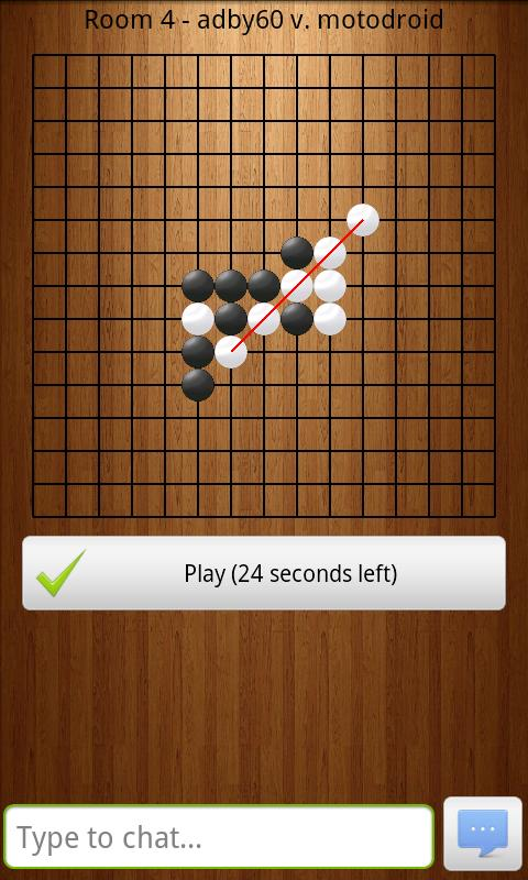 Gomoku Online (Connect 5) - screenshot