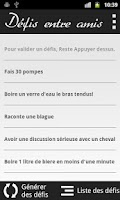 Screenshot of Défis entre amis