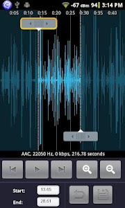 Audio Editor for Android screenshot 1