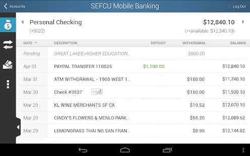 SEFCU Mobile Banking- screenshot thumbnail