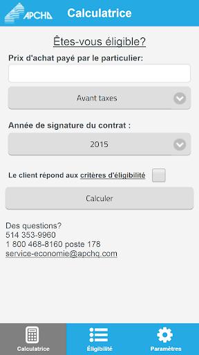 Calculatrice de taxes - APCHQ